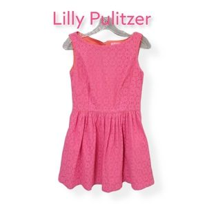 Lilly Pulitzer Pink Lace Mini Dress With Pockets